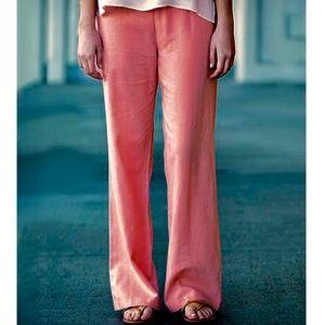J. McLaughlin Coral Pink Linen Pants 12